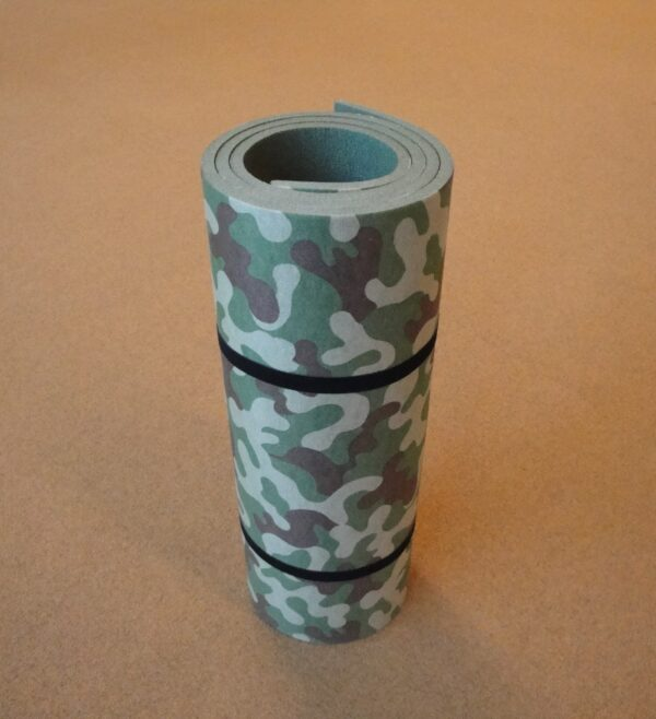 Camping mat with Fabric 200x60x1,2 cm