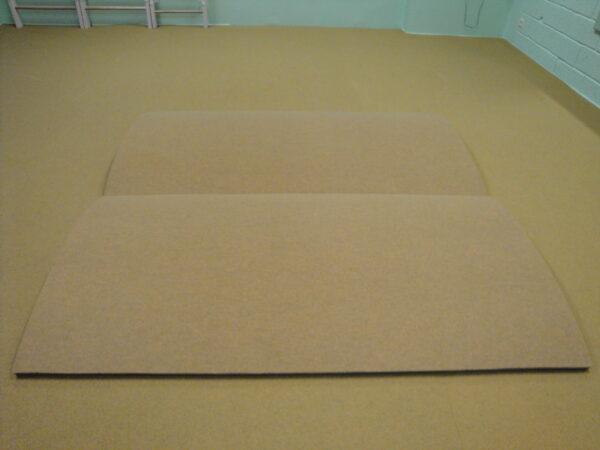 Akrobaatikarada-voldik 200x232x3,5 cm, sinepikollane