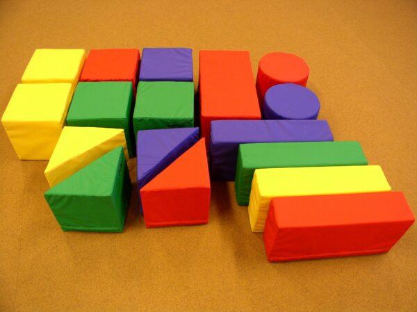 Large soft geometric building blocks, set