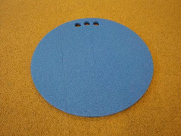Round sitting pad, thickness 10 mm